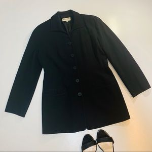 VTG Giorgio Armani Black Blazer Jacket Wool US 8